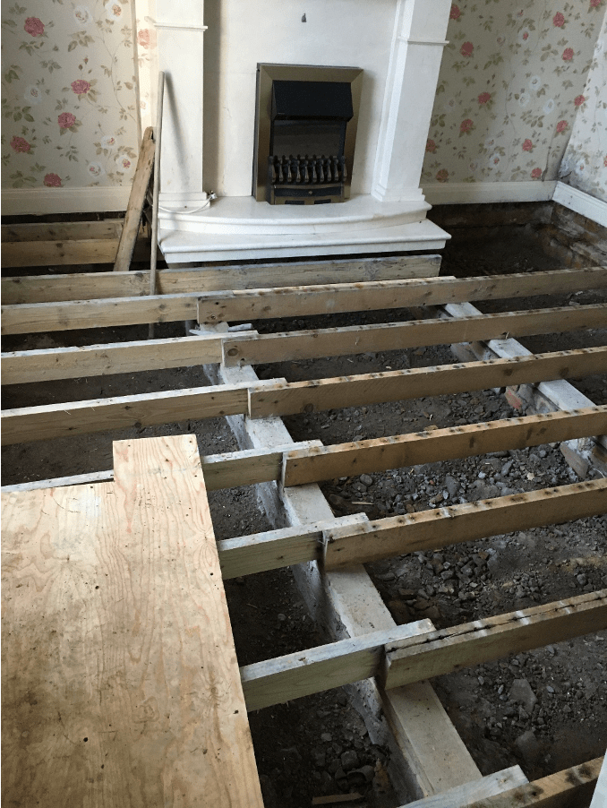 Wet Rot Front room getting repaired