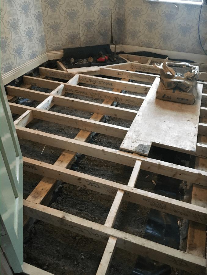 Wet Rot rear room repairs