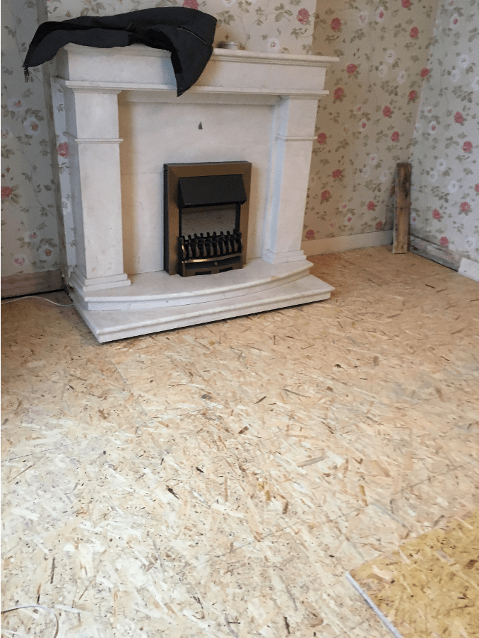 Wet Rot Front room finished